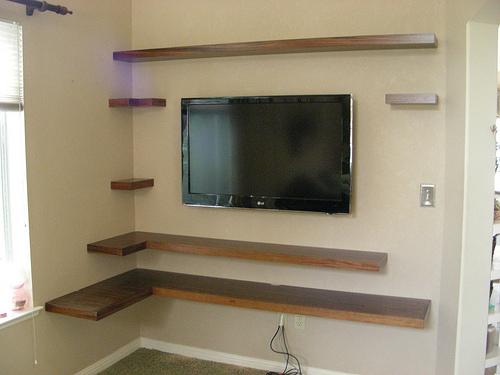 Shelf Ideas On Pinterest Floating Shelves Tvs And Tv Shelf
